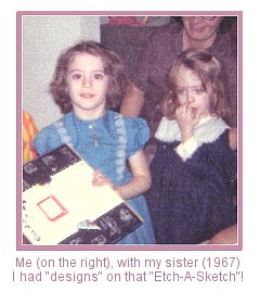 Me with my sister, Christmas 1967